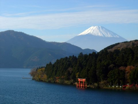 Lake Ashi with Mount Fuji