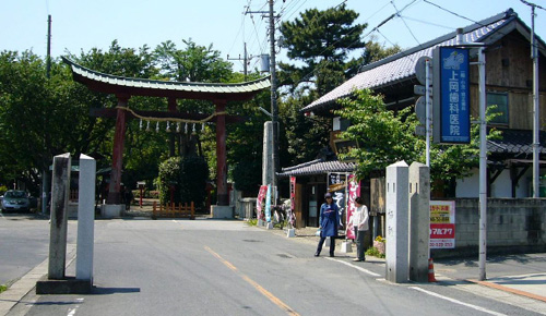 Washinomiya Shrine (made famous in the opening title sequence of the anime Lucky Star)