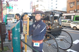 One of the rickshaw men
