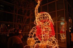 An elephant made of lights at Takashimya Times Square