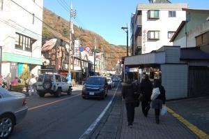 The main street of Hakone Yumoto