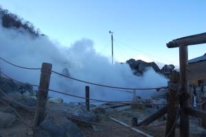 Sulphuric steam vent