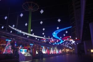 Xmas lights near the Tokyo Dome