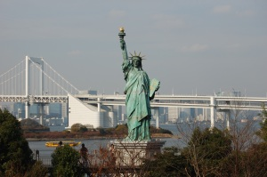 Rainbow Bridge and The Statue Of Liberty